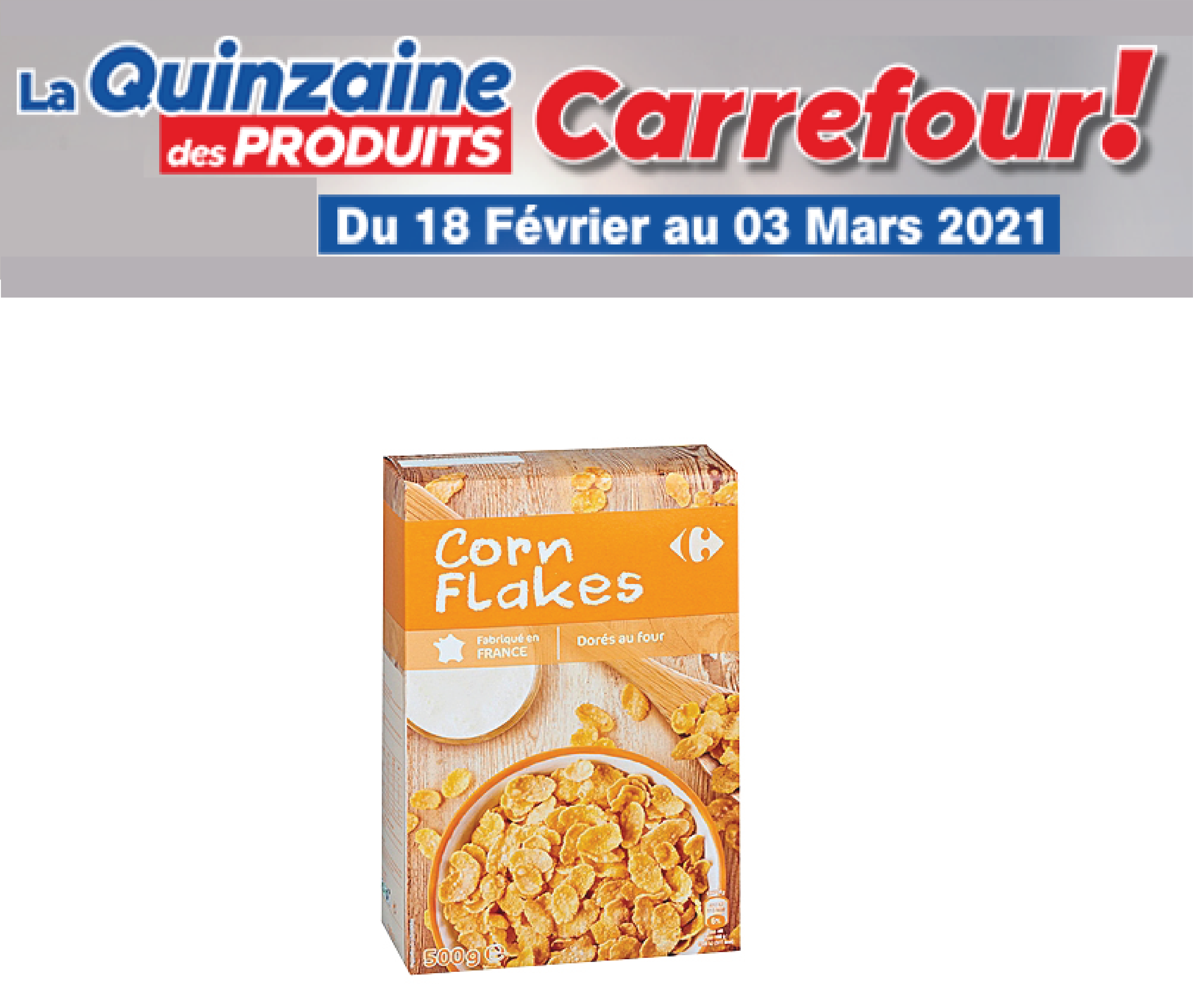 Corn Flakes Carrefour 500g