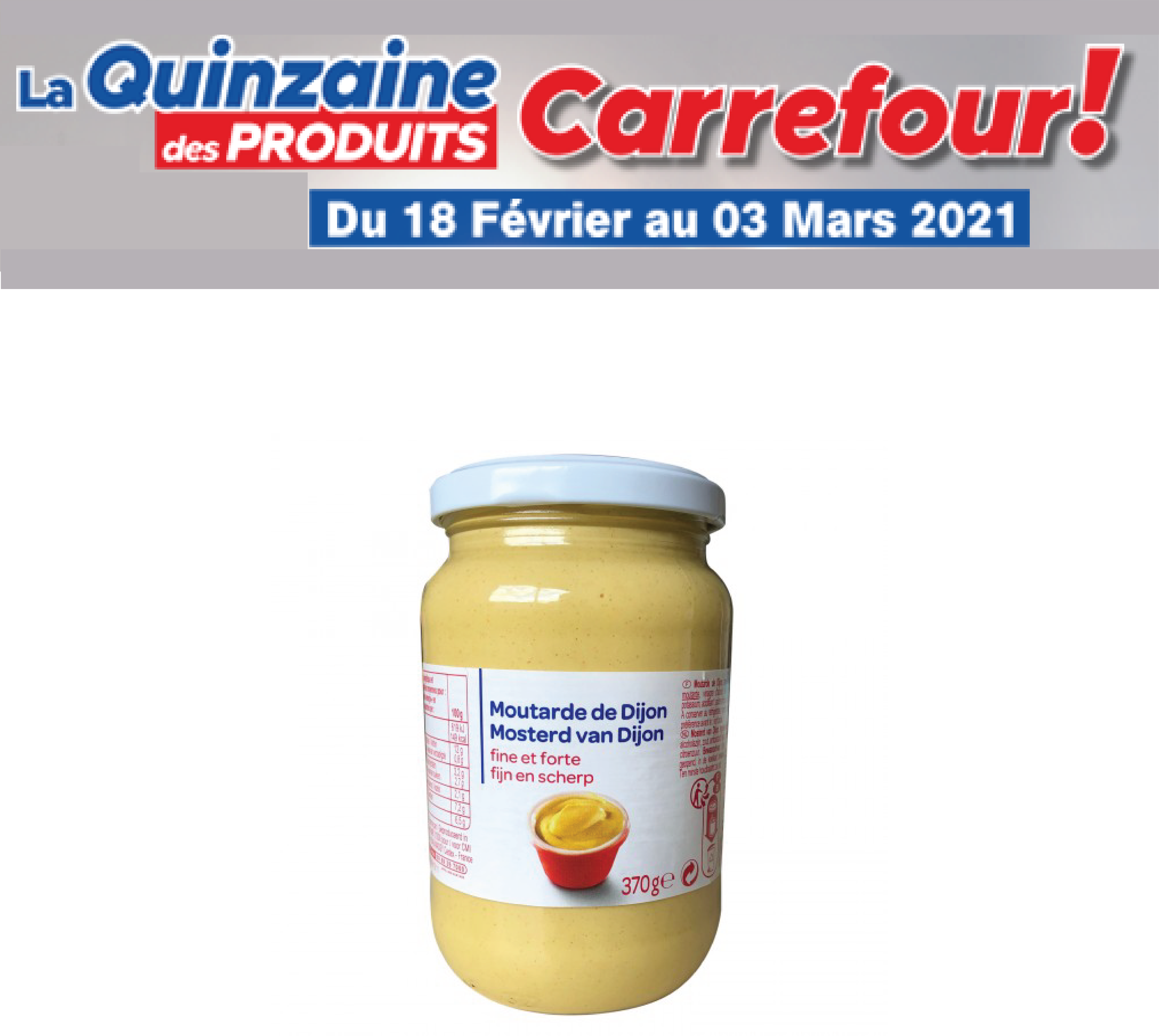 Moutarde Carrefour 370g
